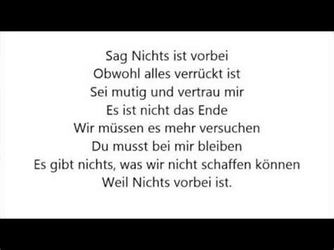 Sunrise Avenue - Nothing is over - Übersetzung Unrated