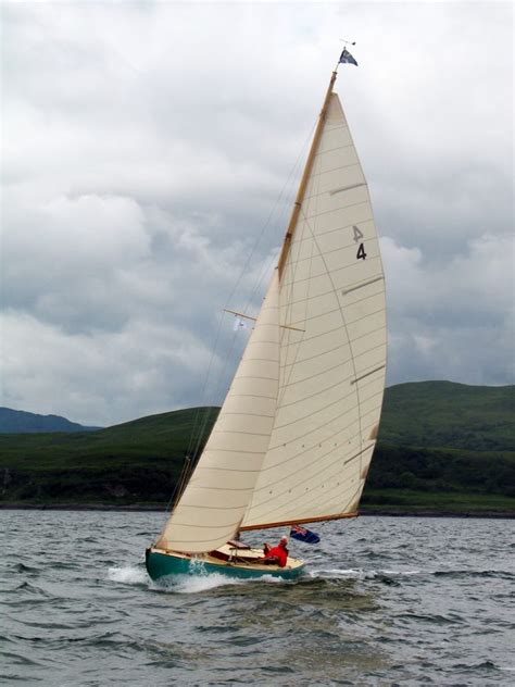 Scottish Islands One Design wooden sailing yacht for sale