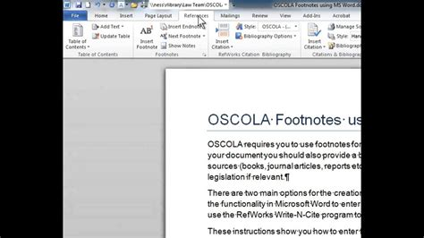 How to write a footnote for journal article