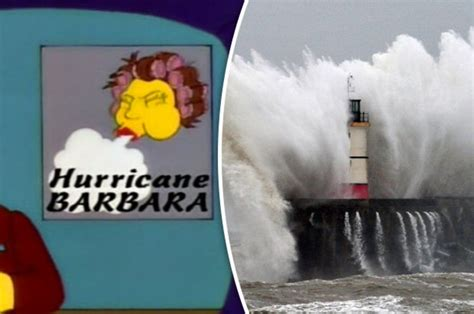 Storm Barbara: Did The Simpsons predict Xmas weather chaos