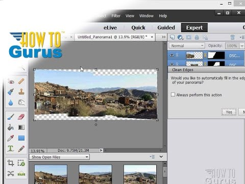 How to Make a Photomerge Panorama in Adobe Photoshop