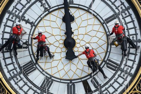 Brave abseilers with head for heights give Big Ben's tower