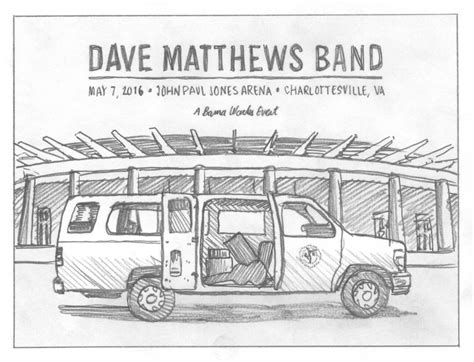 Dave Matthews Band Charlottesville Poster — DKNG