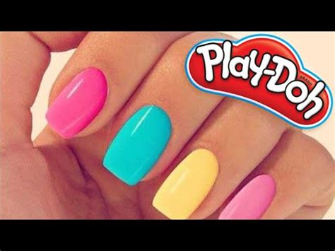 How to make your own play doh nails @home! - YouTube