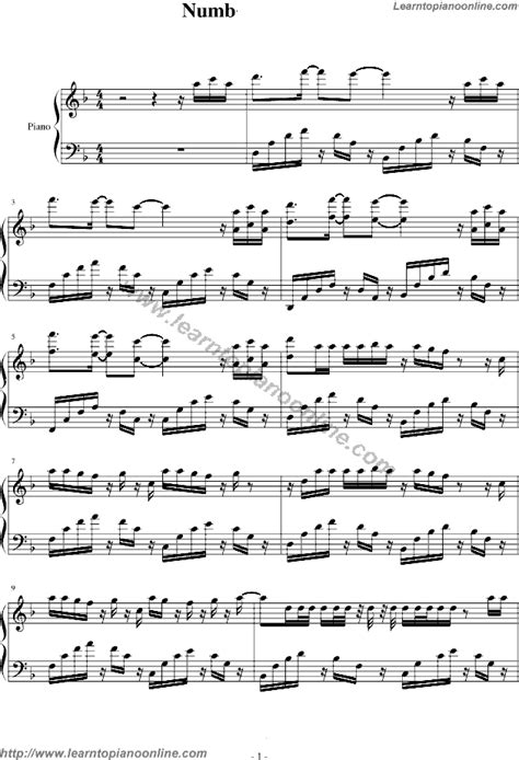 Numb by linkin park Piano Sheet Music Free   music