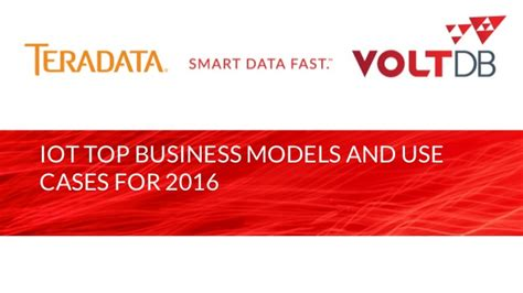 IoT Top Business Models and Use Cases for 2016