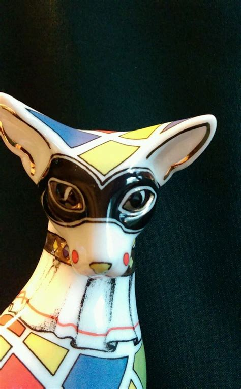 PAUL CARDEW CAT HARLEQUIN COOL CATZ SITTING WITH PAWS