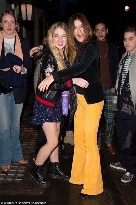 Anais Gallagher celebrates her 18th birthday in London