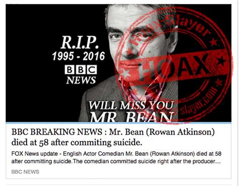 Rowan Atkinson (Mr Bean) Targeted in Yet Another Death