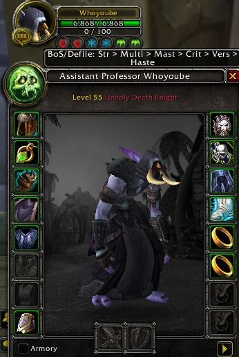 Images - Wyr3d's Icy Veins Stats Priorities - Addons