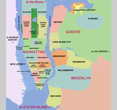 Pin by Rae West on NYC   Map of new york, New york city