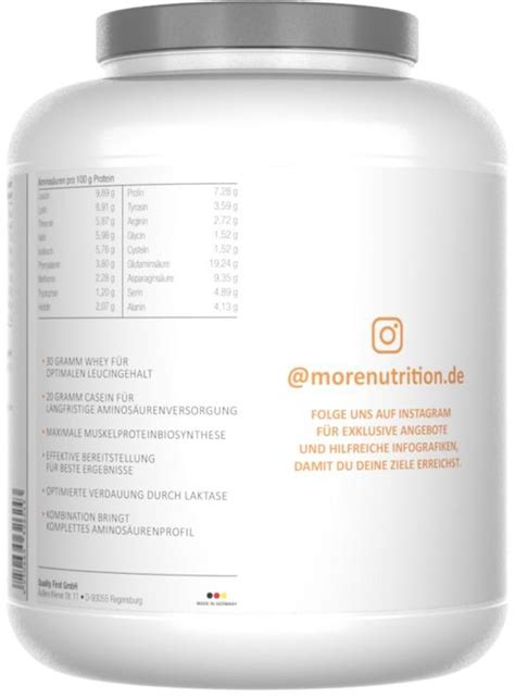 More Nutrition Total Protein, 1500 g Dose, Cremige Honig
