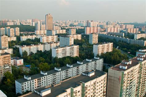 Moscow Suburb City Buildings Stock Image - Image of high