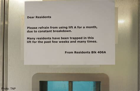 Please refrain from using lift, Singapore News - AsiaOne