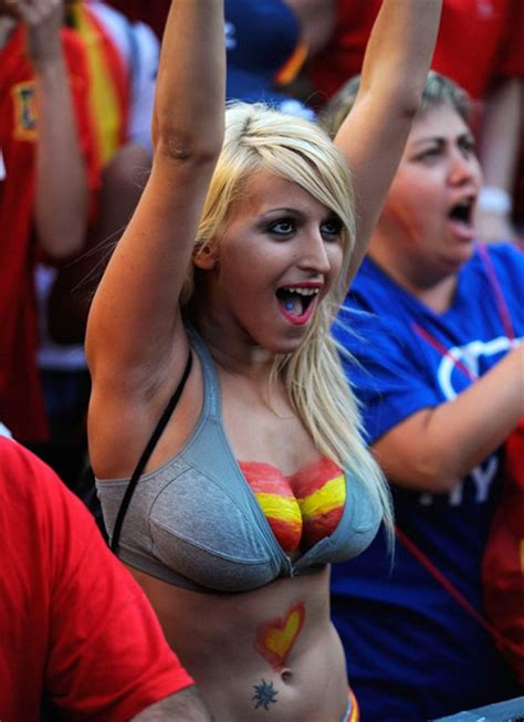 Worlds Hottest Soccer Fans representing their Countries