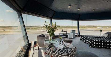 Spend a night in a converted airport ramp tower in Sweden