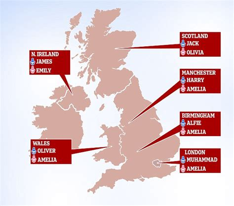Muhammed and Amelia most popular baby names in London