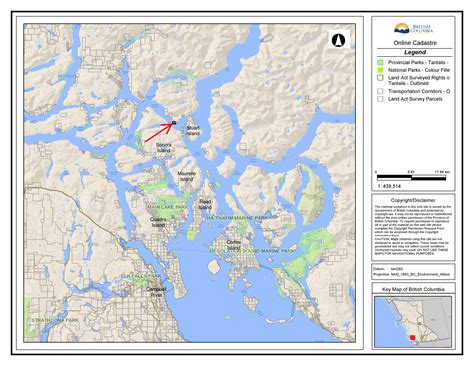 Discovery Islands, DL1445 Dent Island - More Maps | BC