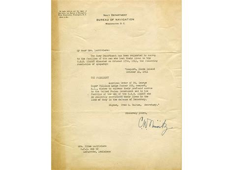 Letters of Condolence | The National WWII Museum | New Orleans