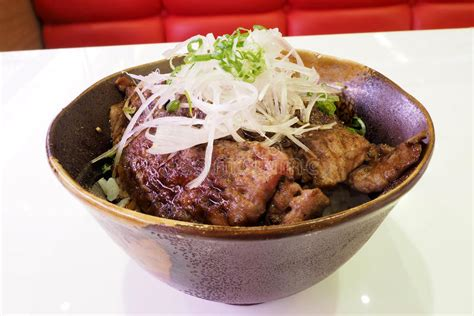 Japanese beef over rice stock image