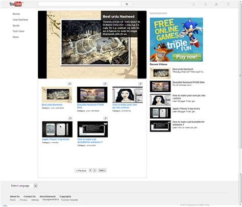 Youtube Template Download Free