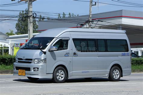 Private Toyota Commuter Van Editorial Stock Photo - Image