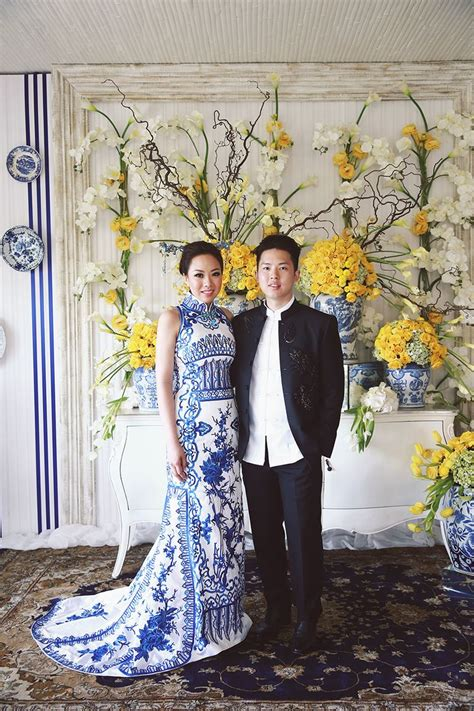 Ronald and Evelyn's Colourful Wedding With Chinoiserie