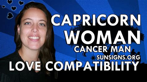 Capricorn Woman Cancer Man – Be Patient & Supportive - YouTube