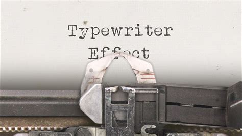 Typewriter Effect - Custom Animation for After Effects
