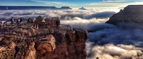 Grand Canyon fills with clouds in rare weather phenomenon